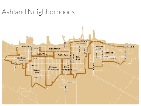 Ashland Neighborhoods Map