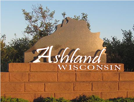 Stone sign for Ashland