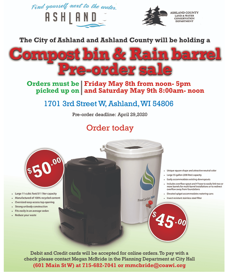 Rain Barrel and Compost Bin Sale 2020